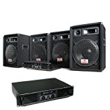 DJ PA pro Pack sono 2 ampli 4 HP enceinte set kit