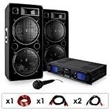 DJ PA SET DJ-27 Ampli PA + 2 enceintes USB SD MP3