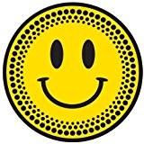 DMC Paire de disques de feutrine pour DJ Noir/jaune