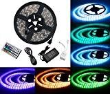 Duractron Kit de Ruban à LED (5m) 5050 RGB SMD Multicolore 300 LEDs 60W, Bande Ruban Etanche avec Télécommande à ...