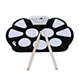Easylink Cadeau De Noël Portable Electronique Roll Up Drum Pad Kit Silicon Foldable & Record Fonction Avec Tambour Stick PEdale ...