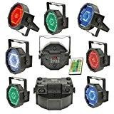 Effet Lumière DMX Slim Par LEDs RGBW avec Microphone Interne Supports de Montage Télécommande Infrarouge 8 Canaux DMX à Led ...