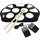 Emperor of Gadgets® Portable Kit Silicon pliable électronique Roll Up Drum Pad avec Stick et câble USB