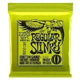 Ernie Ball 2221 Regular Slinky Jeu de cordes pour Guitare électrique