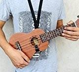"""ETGtek(TM) Guitare réglable Ukulele Sangle avec crochet pour 21 """"23"""" 26 """"Noir"""
