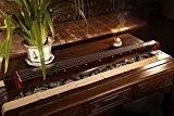 Exquis chinois 7Cordes Instrument en bois de paulownia Guqin cithare GU Qin
