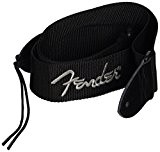 'Fender 099-0662-043 2 Black Poly Strap sans Grey Fender Logo