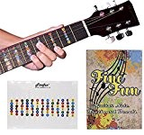 finefun Huile 100% vinyle étanche et imperméable pour guitare palissandre Note Sticker carte du frettes Chevalet en palissandre pour un ...