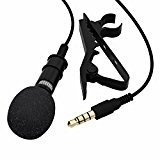 FosFun yypj-12 Lavalier Micro-cravate omnidirectionnel Microphone à condensateur à clip pour APPLE iPHONE, iPad, iPod Touch, samsung, Android et Smartphones Windows