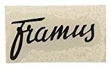 Framus vintage stickers pour guitar headstock noir