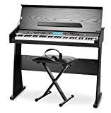 FunKey DP-61 II Piano numérique avec pupitre pour clavier en noir SET avec support et casque
