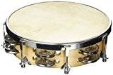 Fuzeau 3991 Tambourin peau naturelle 20 cm + Cymbalettes