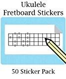 Grand pour ukulélé basse/palissandre Stickers avec 12Frettes Sticker (50par paquet) Idéal pour guitare basse Ukulélé, Royaume-Uni