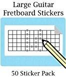 Grand sticker touche Stickers avec 12Frettes (50par paquet) Idéal pour guitare électrique guitare et mandoline