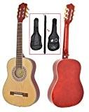 Guitare acoustique de taille 1/2 pour enfants de 6 à 9 ans, avec kit d'accessoire