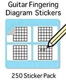 Guitare Chord Schéma doigté & Set de stickers (Lot de 250) Amazing Outil pour les enseignants et les étudiants
