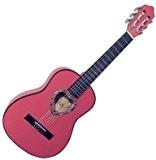 Guitare Classique 1/4 Rose Pour Enfant Rosace En Coeur ~ Neuve