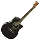Guitare Electro-Acoustique à Dos Rond par Gear4music noir