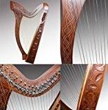 Harpe Celtique 27Cordes avec demi-ton rabats