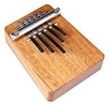 Hokema Mini Kalimba B5 Piano à pouces Fa mineur accord parfait 5 lames Marron