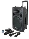Ibiza Port 8 VHF - Enceinte sono portable - Haut parleur avec micro sans fil et micro fil et lecteur ...