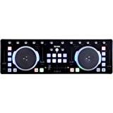 Icon Surface de contrôleur DJ Mini USB/MIDI avec Sensitive tactile Scratch Wheels Noir