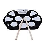 InVaFoCo Cadeau D'anniversaire Électronique Portatif Roll Up Drum Pad Kit, Parfait Pour Les Débutants Et Les Enfants Et La Fonction ...