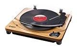 ION Audio Air LP Wood | Platine Vinyle et Convertisseur Sans Fil Avec Bluetooth Connexion USB - Finition Bois
