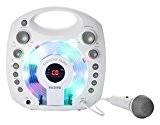 Ion Audio Karaoke Party White | Lecteur Karaoké Portable avec Effets Lumineux et Micro Blanc Inclus - Blanc