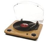 ION Audio Max LP | Platine Vinyle à Entraînement par Courroie avec Haut-Parleurs Intégrés et Convertisseur USB - Finition Bois