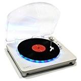 ION Audio Photon LP - Platine Vinyle avec Effet Lumineux LED Multi Couleur et Convertisseur USB pour Mac et PC ...
