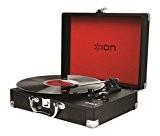 ION Audio Vinyl Motion | Platine Vinyle et Convertisseur Portable Style Malette Classique avec Enceintes Intégrées + Batterie Rechargeable
