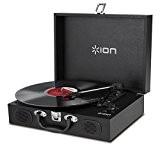 ION Audio Vinyl Transport Black | Platine Vinyle Portable Style Malette avec Enceintes Intégrées