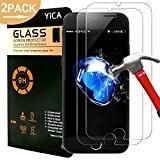 iPhone 7 Protecteur D'écran, Yica [2 Pack] écran en Verre Trempé Protecteur Anti-rayures Ultra Clear Protector Plus Durable de l'écran ...