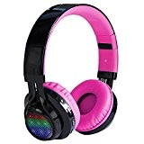 IPUIS Casque LED Bluetooth Stéréo,Casque Sans Fil Pliable avec Micro 3.5mm Suppression du Bruit Support TF Carte et FM Radio ...