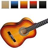 Jago - Guitare Classique Acoustique 4/4 en Bois (Couleur au Choix)