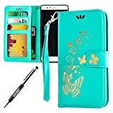 JAWSEU Coque pour Huawei P9,Huawei P9 Portefeuille Coque en Cuir,Huawei P9 Cover Flip Wallet Case Ultra Slim,2017 Neuf Femme Homme ...