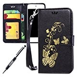 JAWSEU Coque pour iPod Touch 5,iPod Touch 5 Portefeuille Coque en Cuir,iPod Touch 5 Cover Flip Wallet Case Ultra Slim,2017 ...