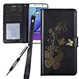 JAWSEU Coque pour Samsung Galaxy Note 5,Samsung Galaxy Note 5 Portefeuille Coque en Cuir,Samsung Galaxy Note 5 Cover Flip Wallet ...
