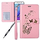 JAWSEU Coque pour Samsung Galaxy Note 5,Samsung Galaxy Note 5 Portefeuille Coque en Cuir,Samsung Galaxy Note 5 Cover Flip Wallet ...