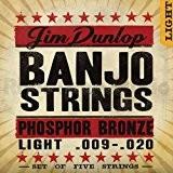Jim Dunlop djp0920Cordes Banjo 5cordes bronze phosphoreux