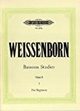 Julius Weissenborn: Studies For Bassoon Op.8 - Volume 1. Partitions pour Basson