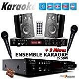 KARAOKÉ COMPLET avec AMPLI USB MP3 SD BLUETOOTH + 2 MICROS + 2 ENCEINTES HIFI ... PA-DJ