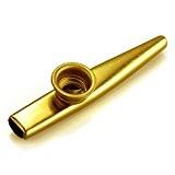 Kazoo en Métal Doré Instrument à Vent Cadeau pour Enfant