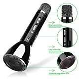 Keynice Microphone Bluetooth sans fil / commandes dynamiques / Microphone pour Karaoké compatible avec les smartphone Android, Apple Iphone, et ...