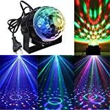 KINGSO Lampe de Scène 3W 100-240V Lumière de Stade Eclairage Soirée Mini Projecteur Spot RGB/GVB LED pour KTV, Bar, DJ ...