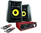 Krk RP5 G3 Rokit Lot de 2 enceintes avec l'interface audio Focusrite Scarlett 2i2