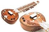 Lefty Sitar. Fine en palissandre indien pour gaucher Guitare Rock 'n' Roll + son traditionnel plat polyvalent Sitar