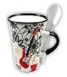Little ronflement Exclusif pour guitare électrique Mug avec cuillère tasse à cappuccino Blanc...