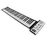 Lychee Clavier Piano Electronique Portable Flexible à 61 Touches Retroussé Roulé Roll Up Piano Souple Flexible MIDI Pliant Instruments de ...